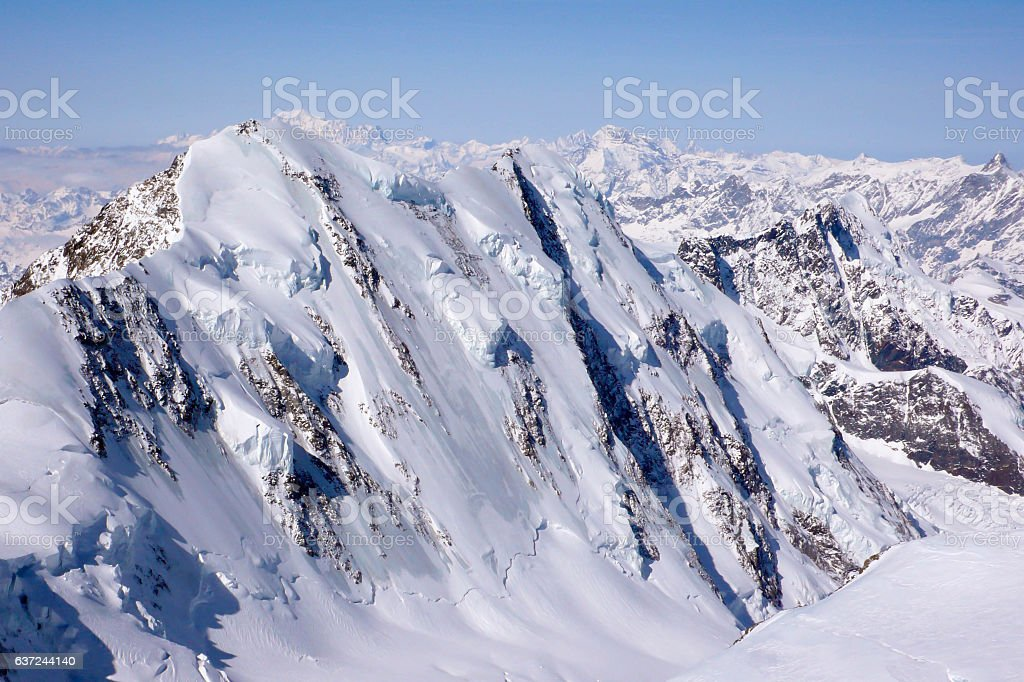 the north face of Liskamm stock photo