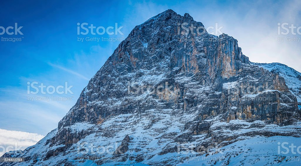 The North Face of The Eiger iconic Alpine mountain Switzerland stock photo