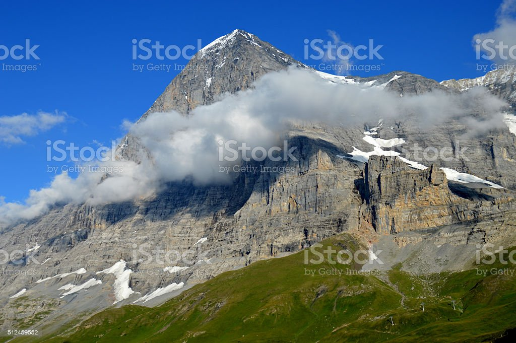 The North Face of the Eiger stock photo