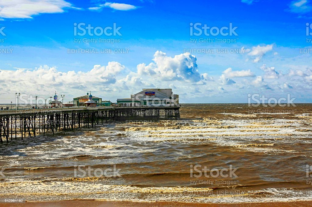 The North Pier at Blackpool, UK stock photo