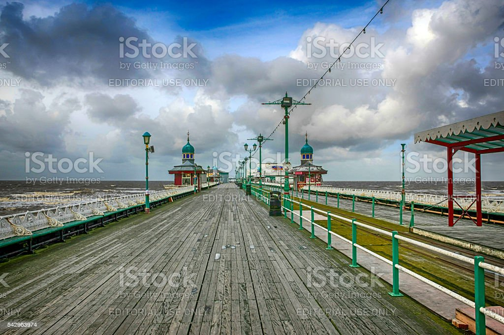 The North Pier in Blackpool, UK stock photo