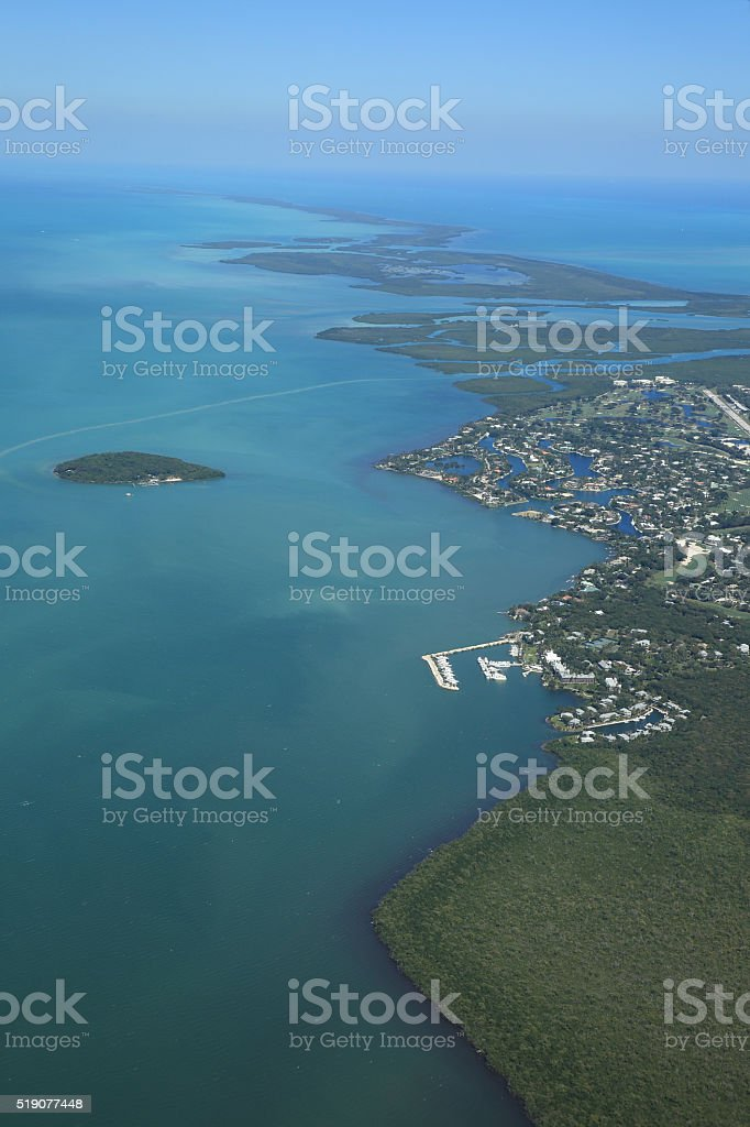 The Northern Florida Keys stock photo