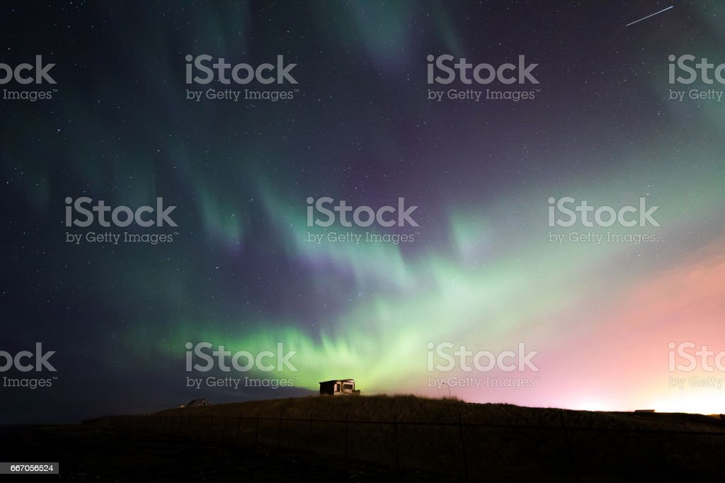 The Northern Light Aurora borealis Iceland stock photo