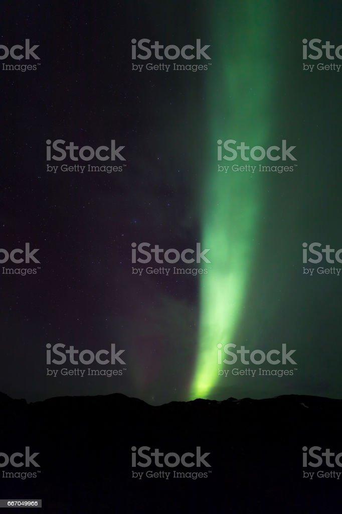 The Northern Light Aurora borealis stock photo