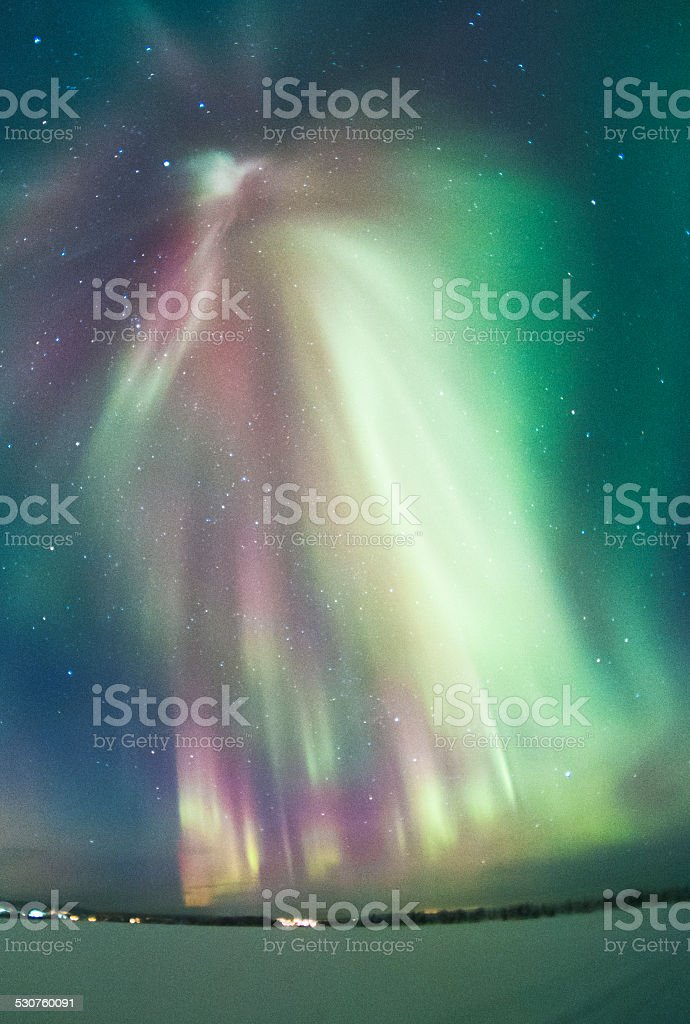 The northern Lights royalty-free stock photo