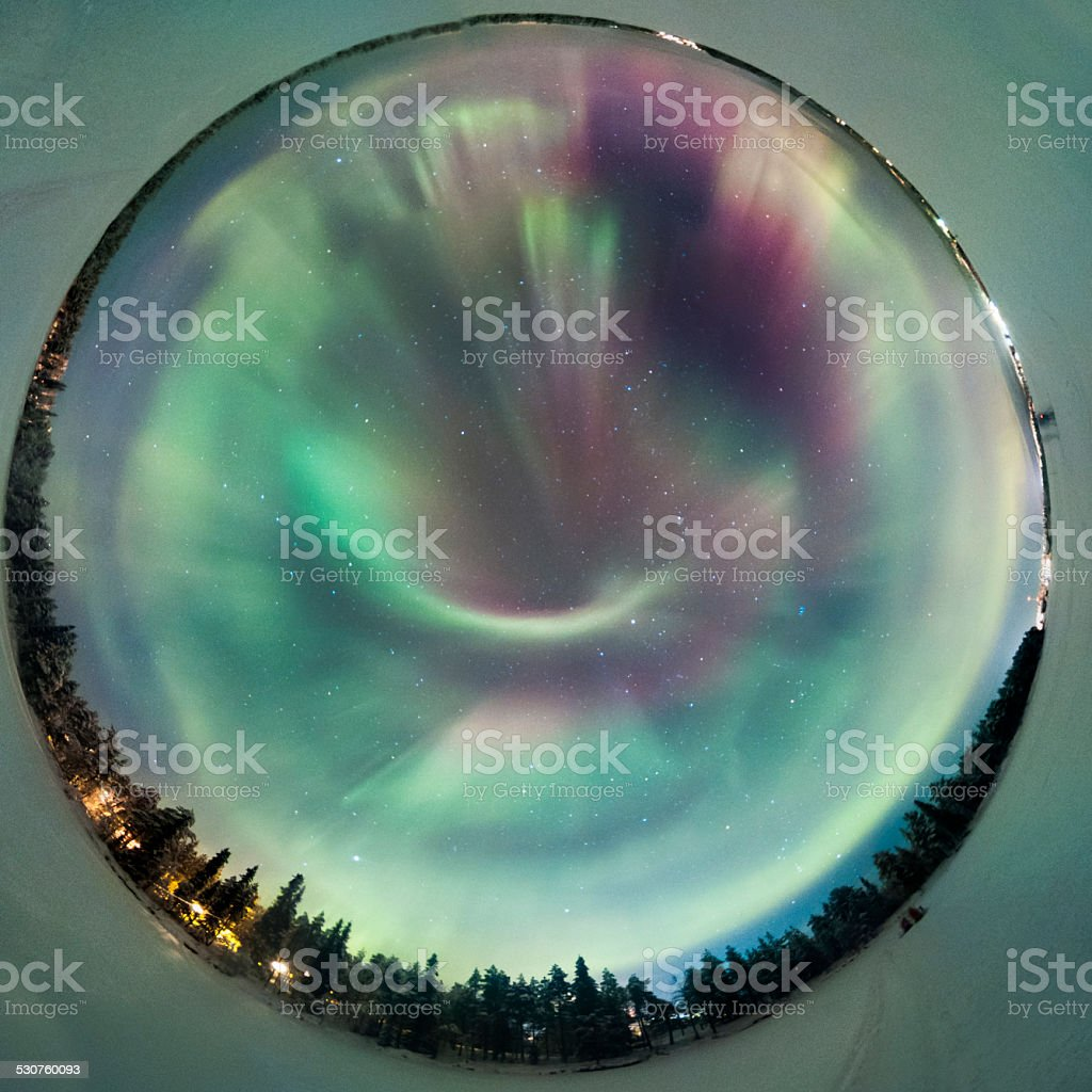 The northern Lights stock photo