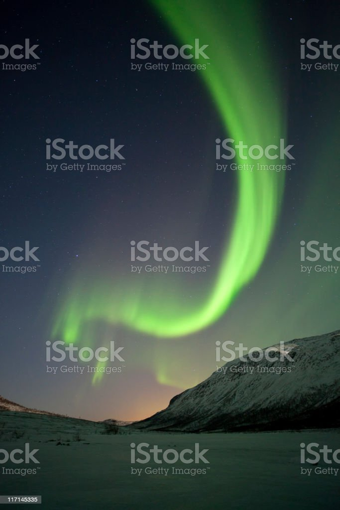 The Northern Lights, Tromso, Lapland, Norway. royalty-free stock photo