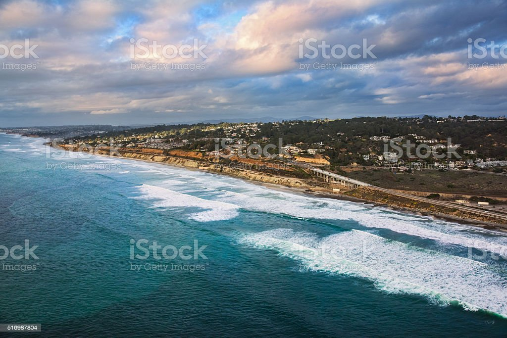 The Northern San Diego County Coast - Del Mar stock photo