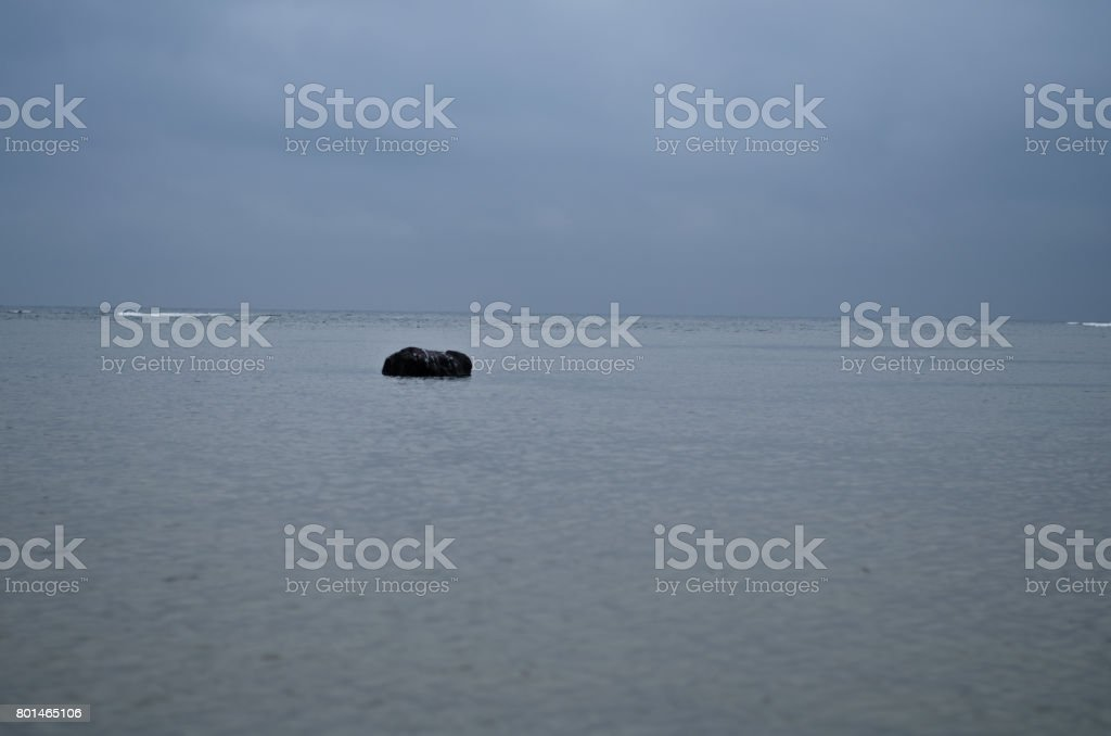 The northernmost sea of Japan stock photo