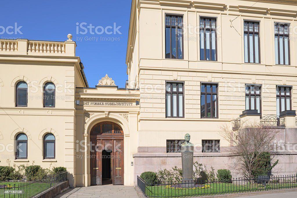 The Norwegian Nobel Institute in Oslo stock photo