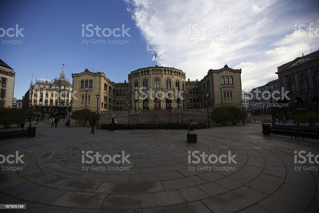 The Norwegian Parliament royalty-free stock photo