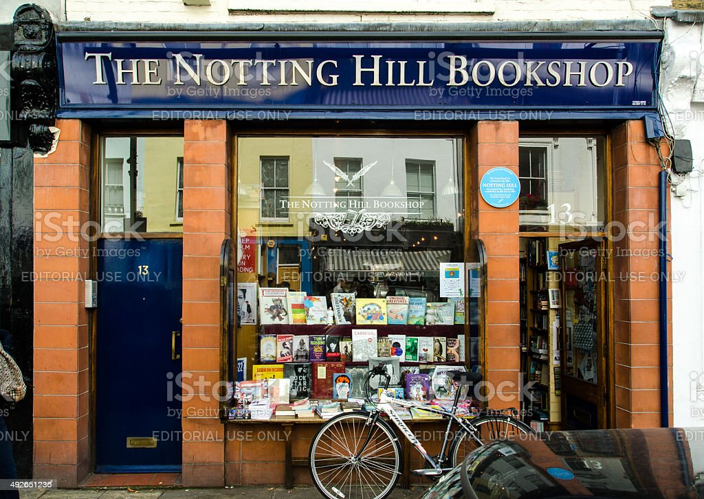 The Notting Hill Bookshop - Travel Bookshop stock photo