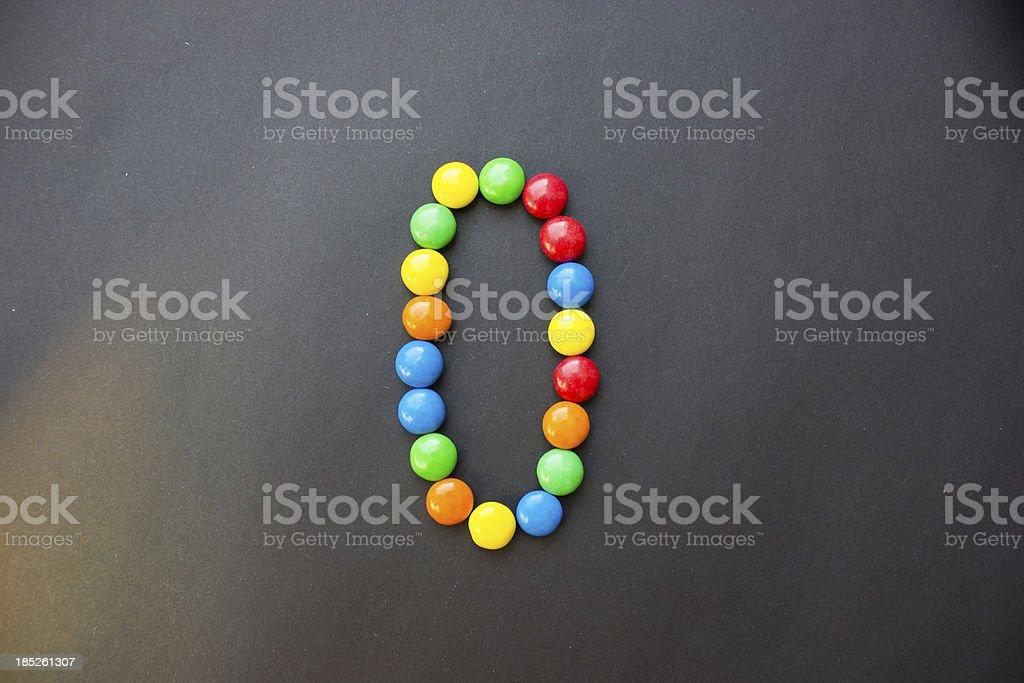 The number 0 zero stock photo