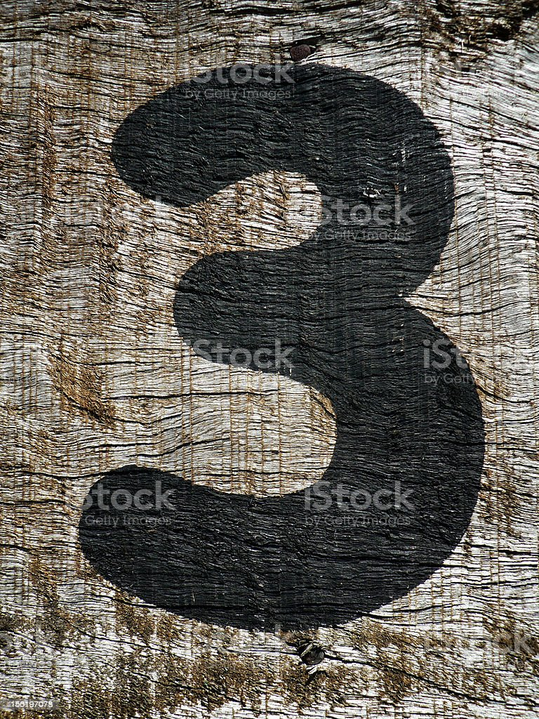 The Number 3 royalty-free stock photo