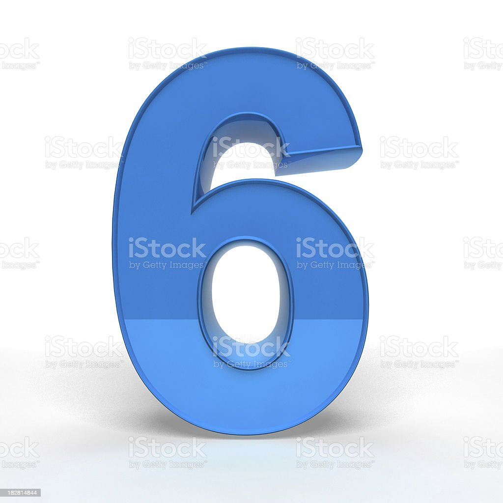 The Number 6 stock photo