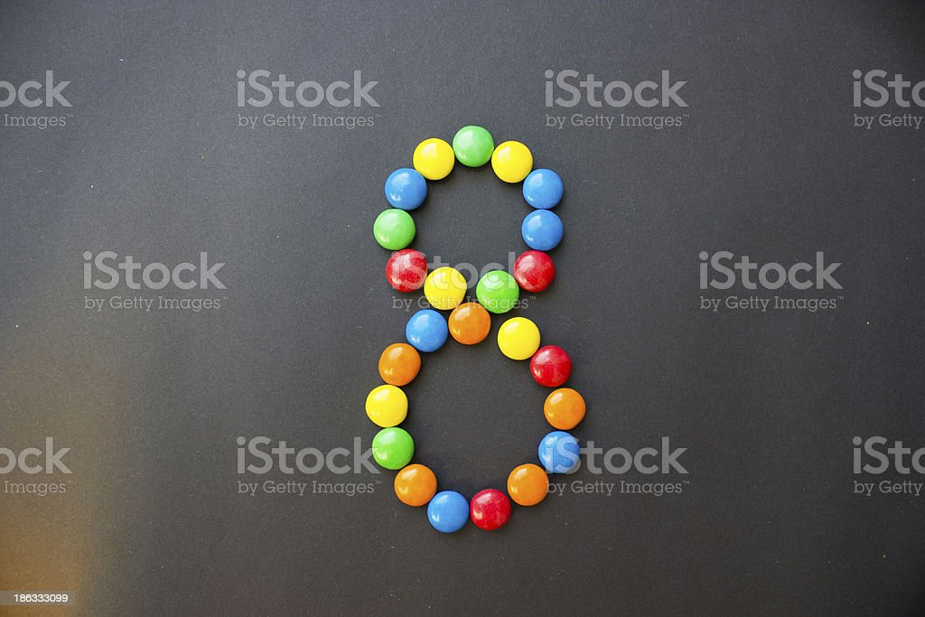 The number 8 eight stock photo