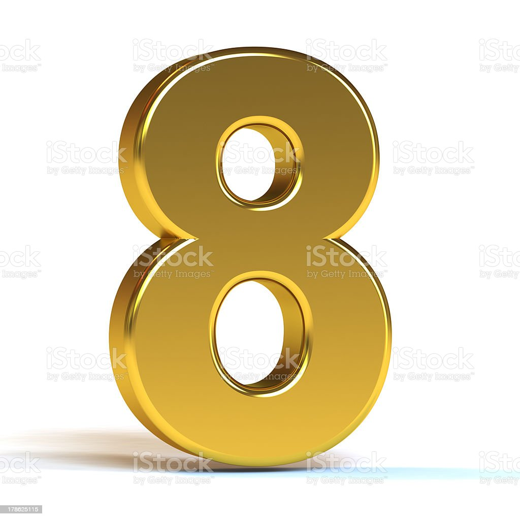 the number 8 gold stock photo 178625115