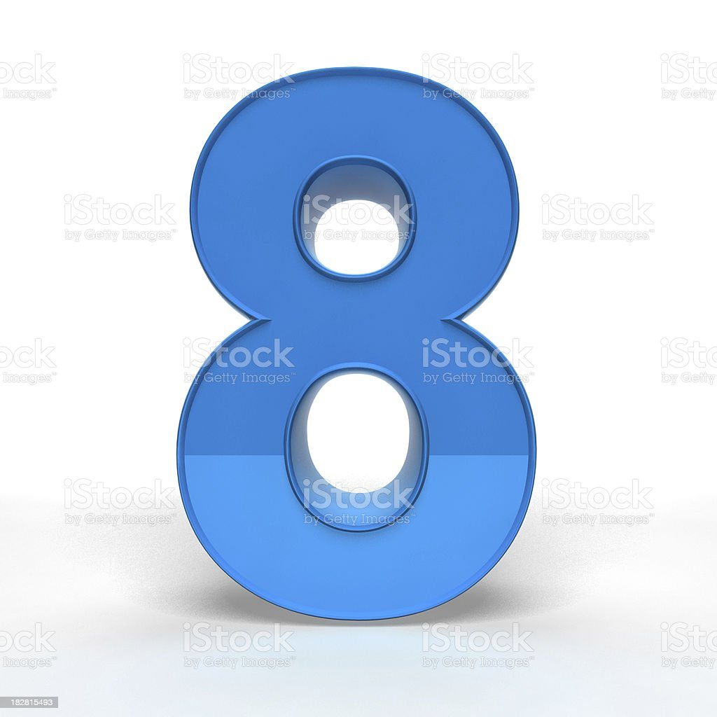 The Number 8 stock photo