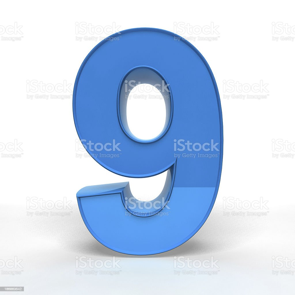 The Number 9 stock photo