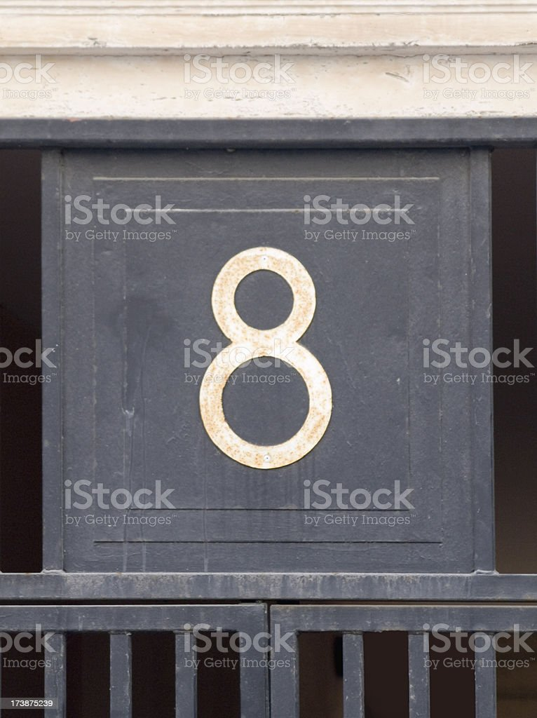 The number eight stock photo
