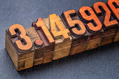 the number pi in wood type