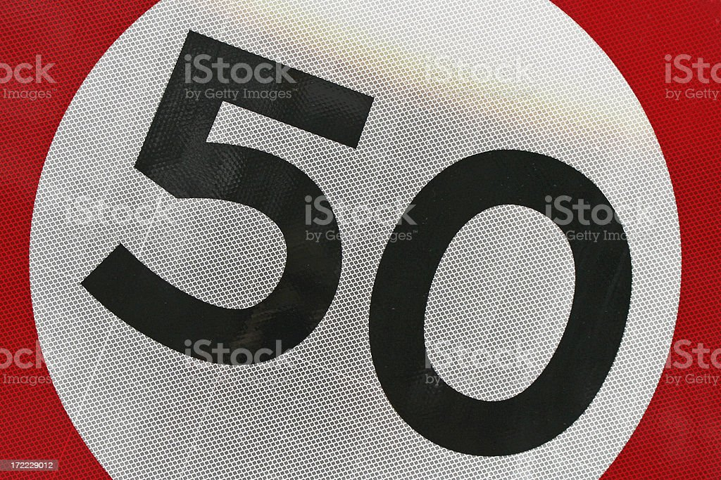 The number / speed is 50! # 1 royalty-free stock photo
