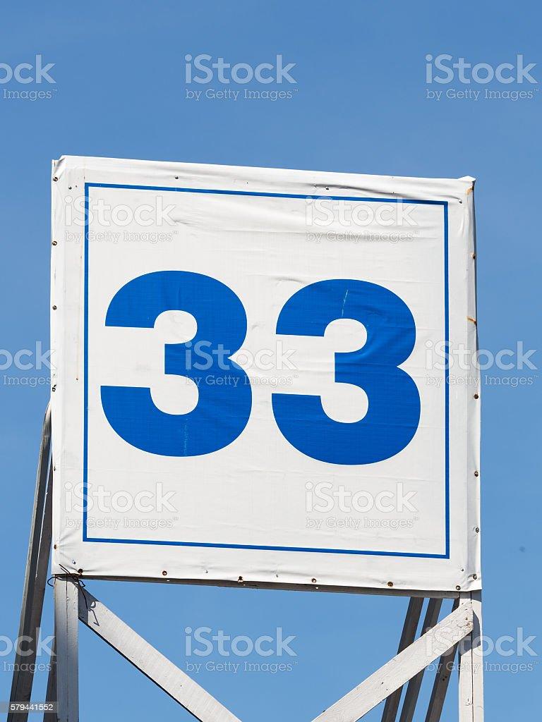 the number thirty-three stock photo
