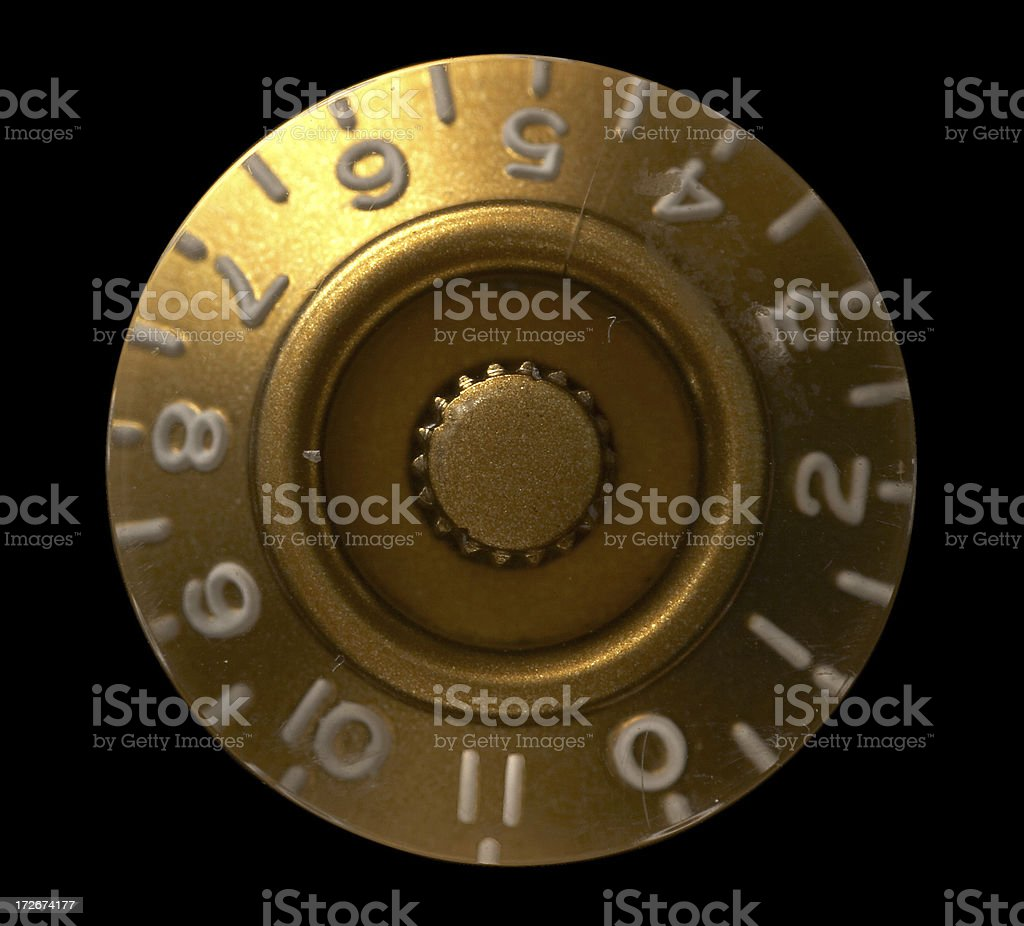 The numbers all go to eleven stock photo