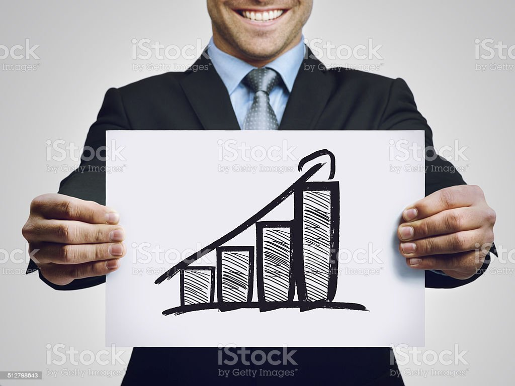 The numbers are in! stock photo