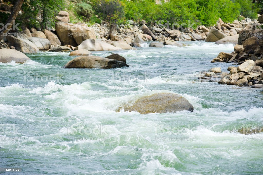 The Numbers Arkansas River Whitewater Rapids stock photo