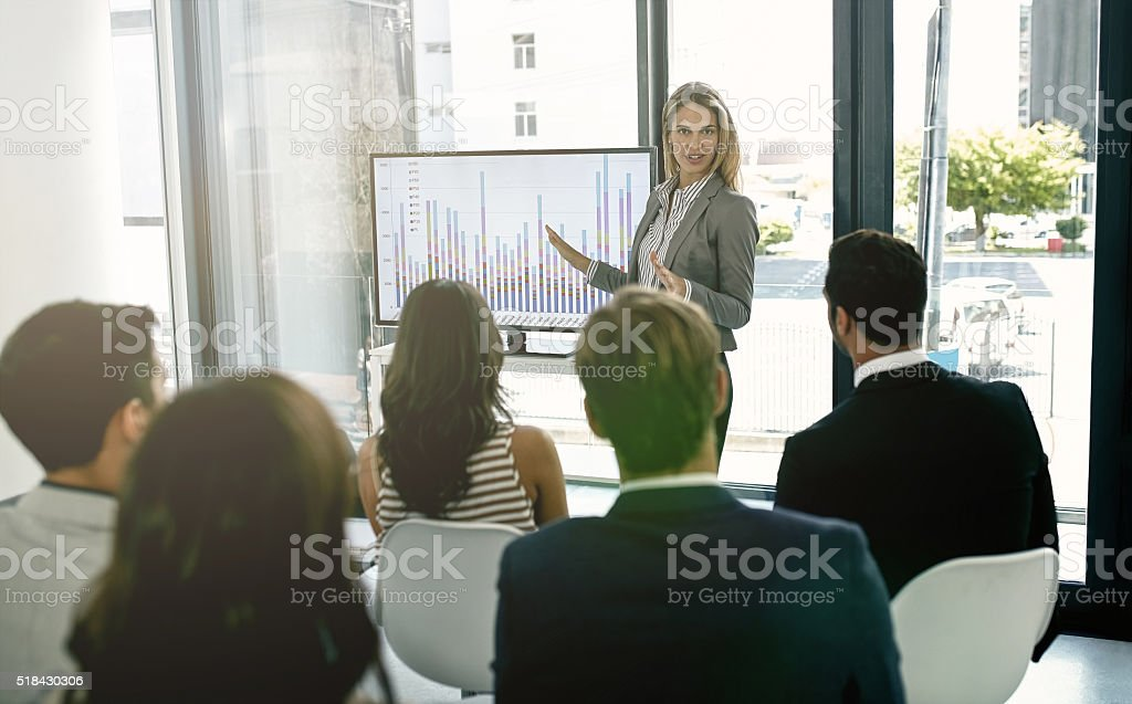 The numbers don't lie stock photo