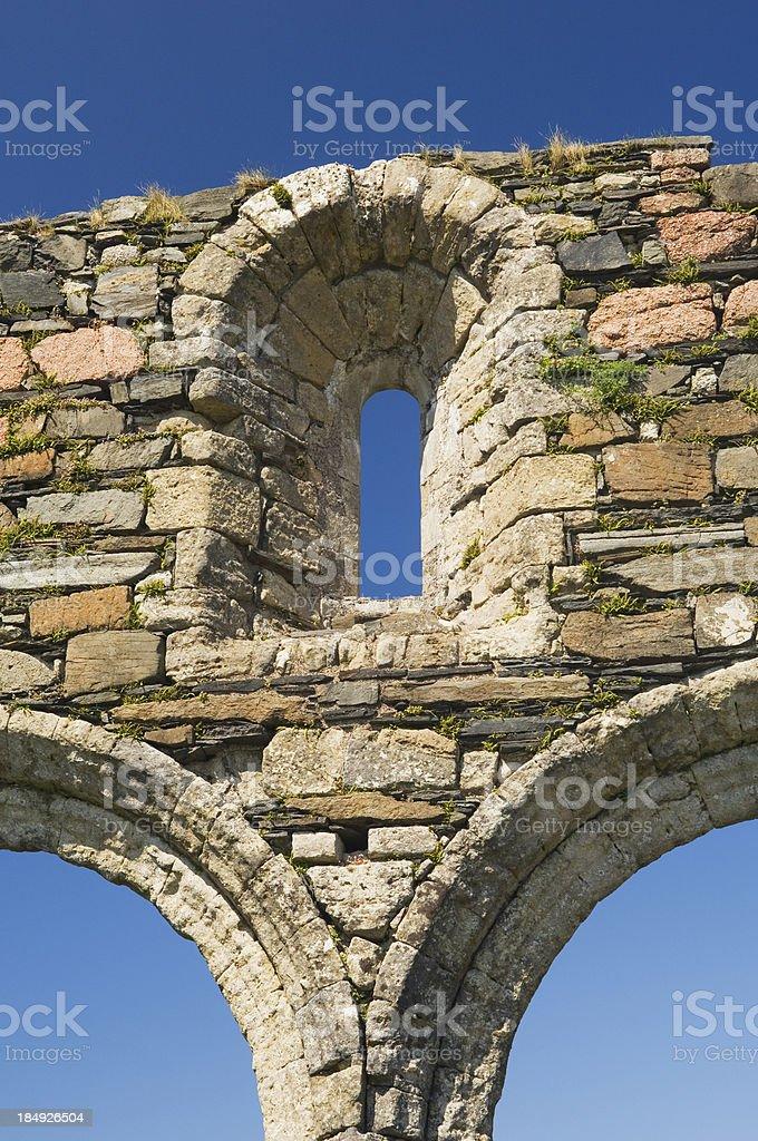 The Nunnery, Isle of Iona stock photo