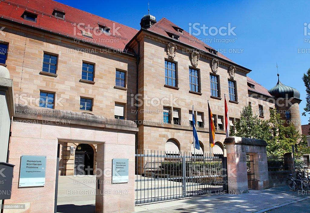 The Nuremberg Palace of Justice stock photo