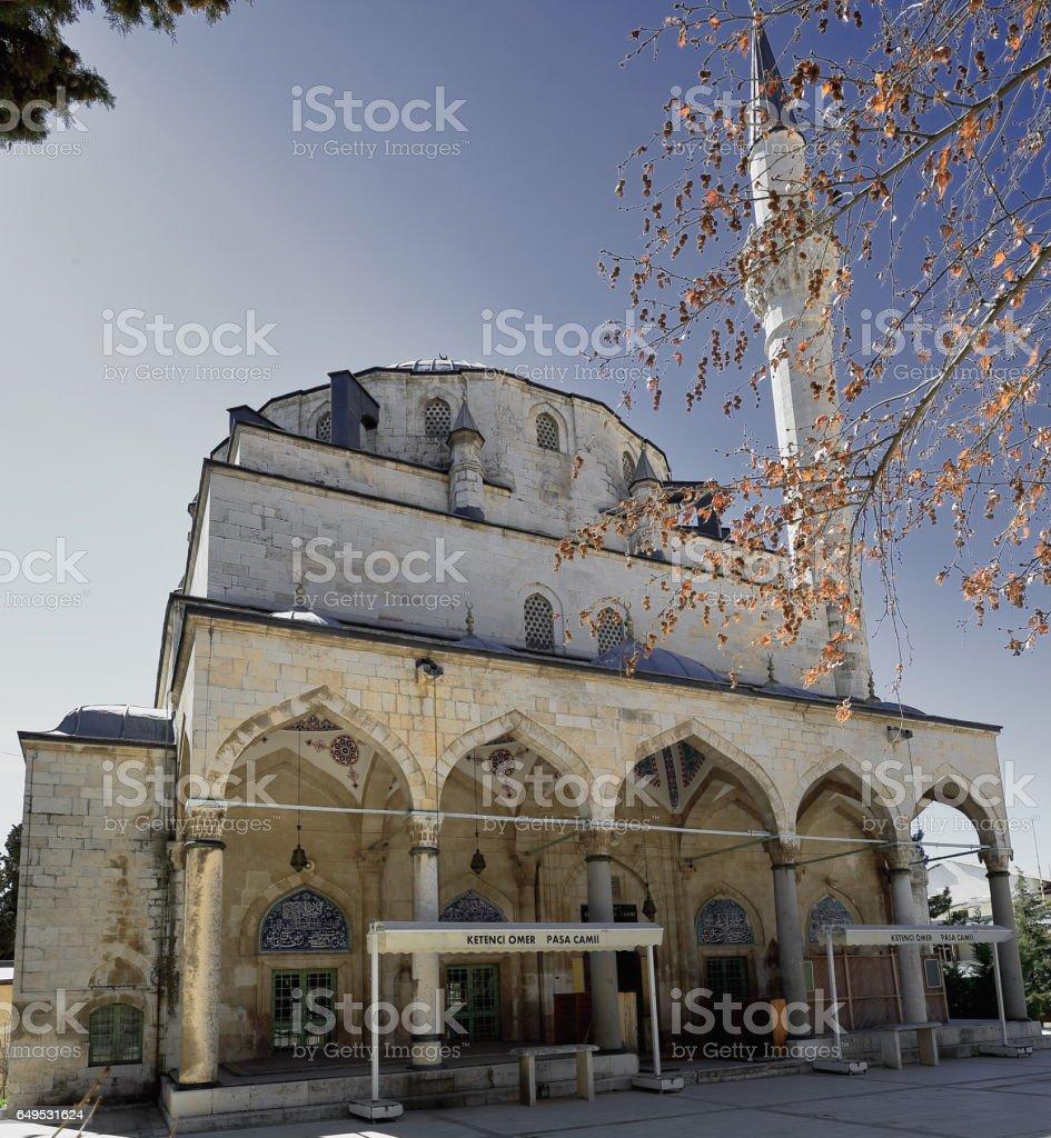 The NW.facing facade of the Ömer Pasa camii-mosque. Elmali-Turkey. 1847 stock photo