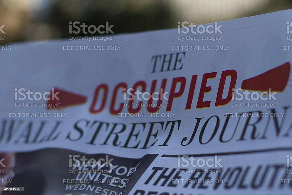 The Occupied Wall Street Journal stock photo