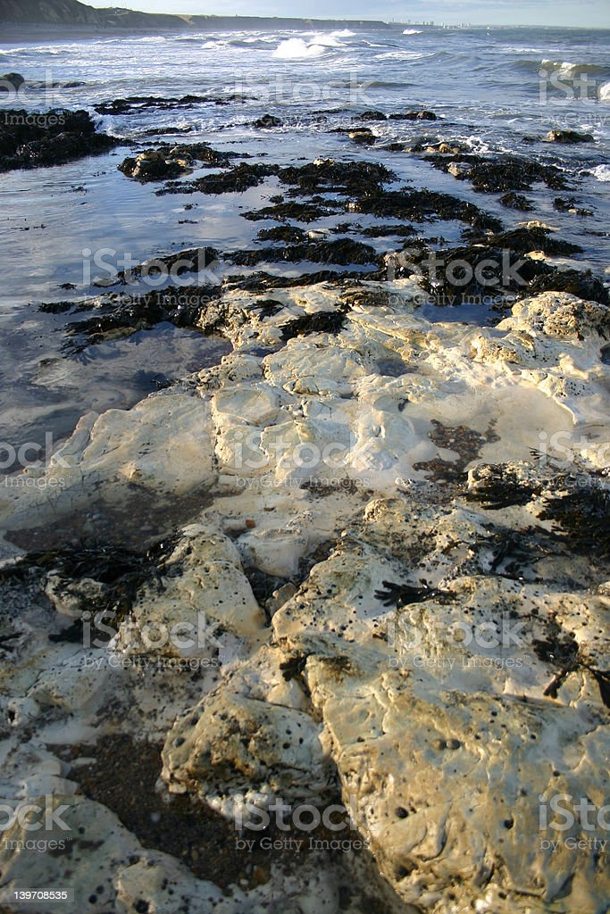 the ocean in winter, a frosty seascape royalty-free stock photo
