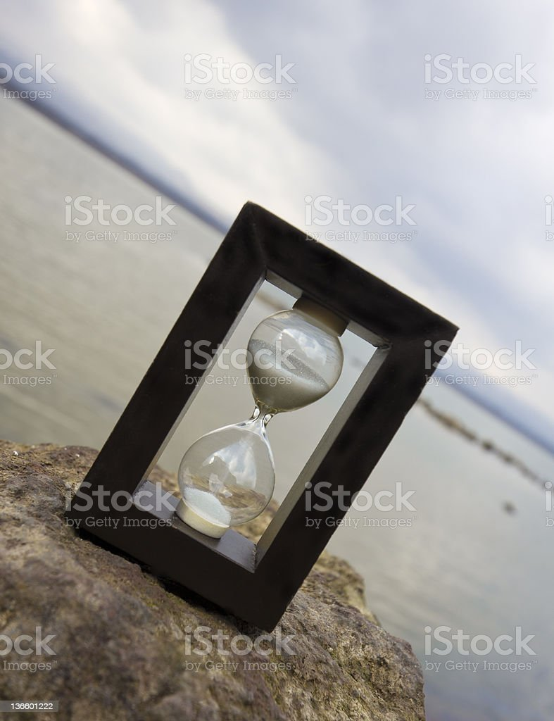 the ocean of time royalty-free stock photo