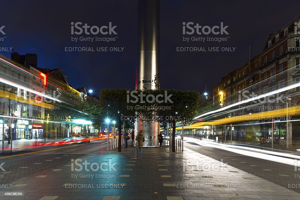 The O'Connell Street royalty-free stock photo