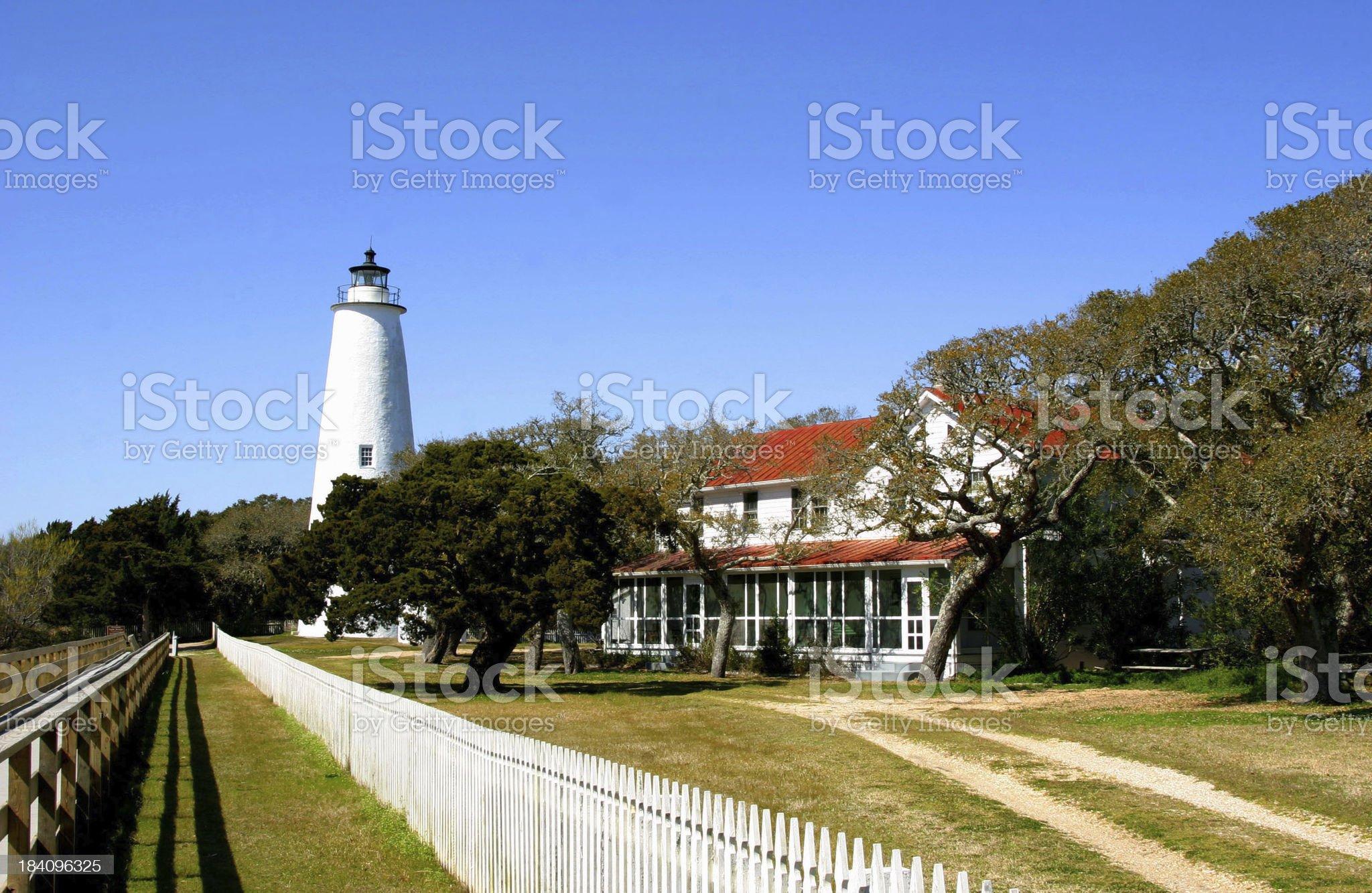 The Ocracoke Lighthouse royalty-free stock photo