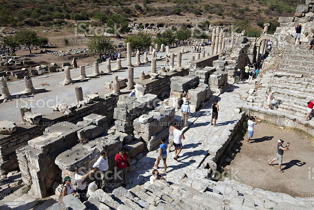 The Odeion, Ephesus, Izmir, Turkey royalty-free stock photo