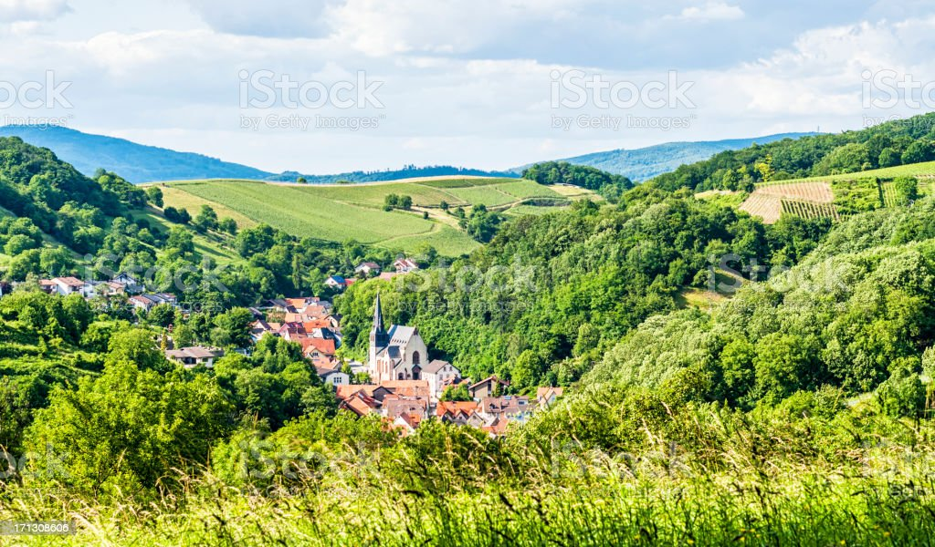 The Odenwald in Germany stock photo