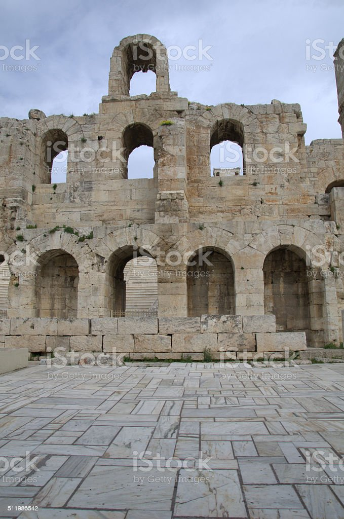 The Odeon of Herodes Atticus stock photo