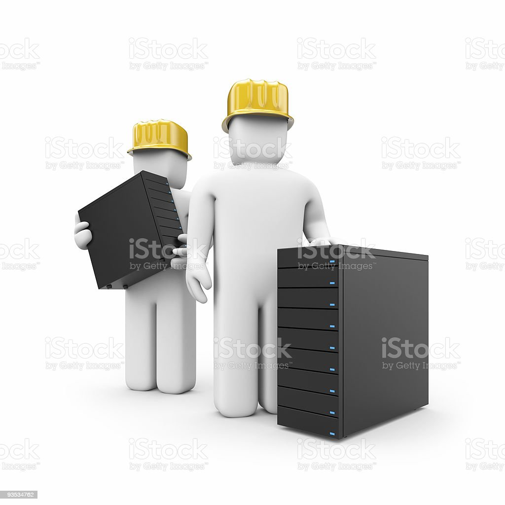 The offer of server services royalty-free stock photo