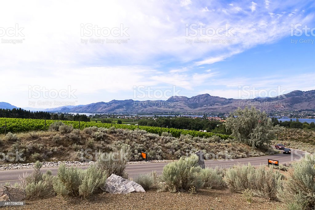 The offical desert of Canada. Osoyoos stock photo