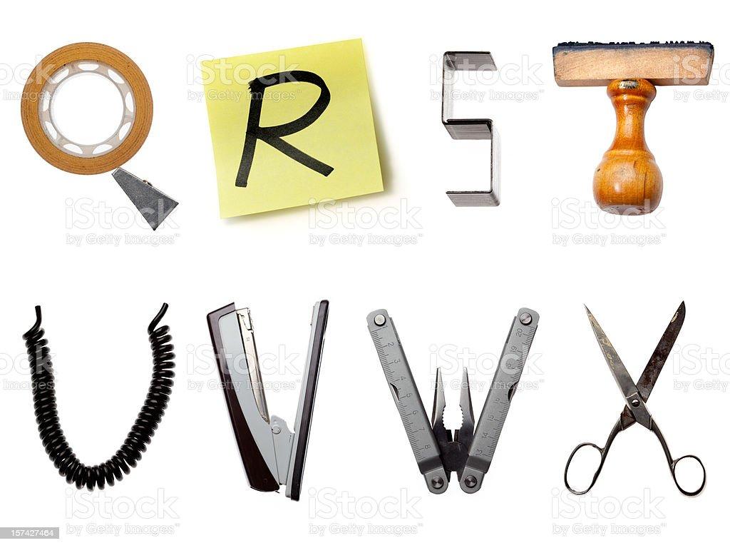 The Office Alphabet royalty-free stock photo