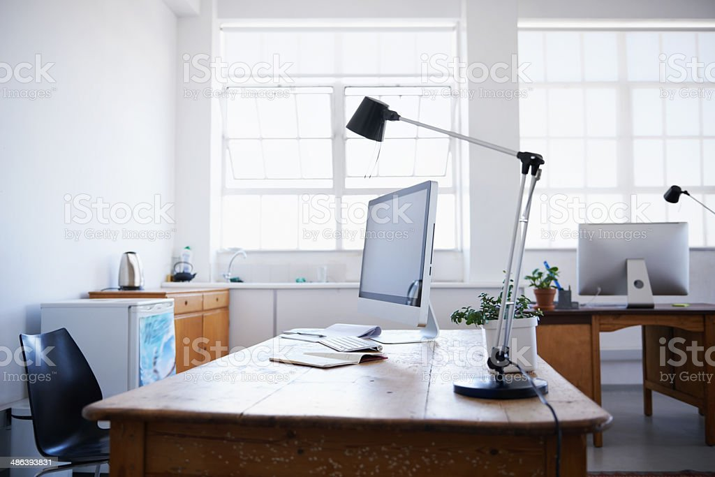 The office at the weekend stock photo