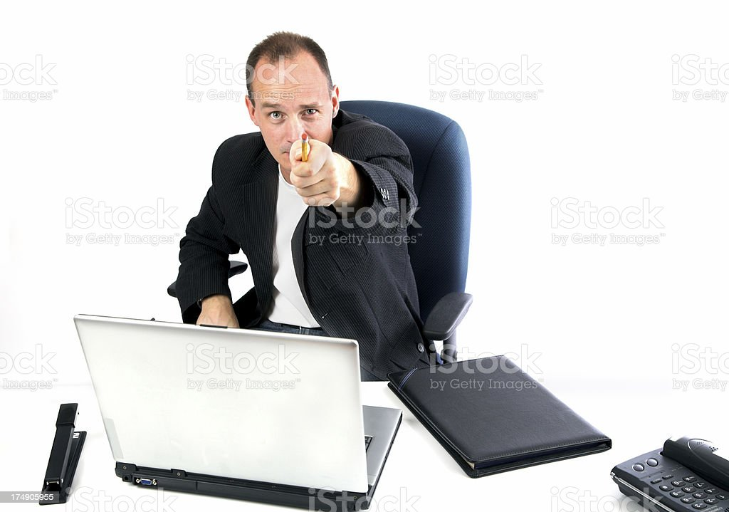 The office needs you! royalty-free stock photo