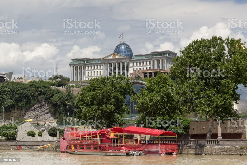 The Official residence of Georgian President in Tbilisi stock photo