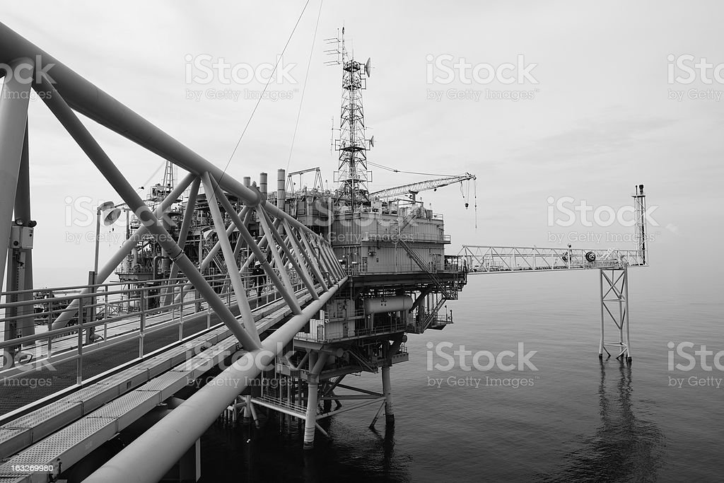 The offshore oil rig royalty-free stock photo