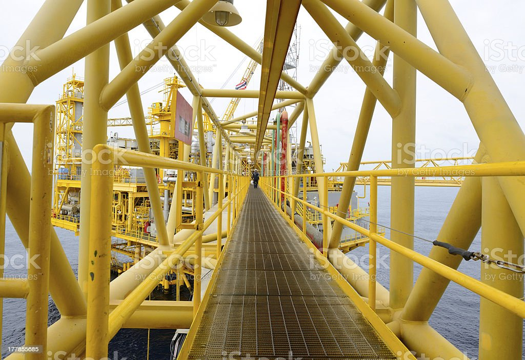 The offshore oil rig. royalty-free stock photo